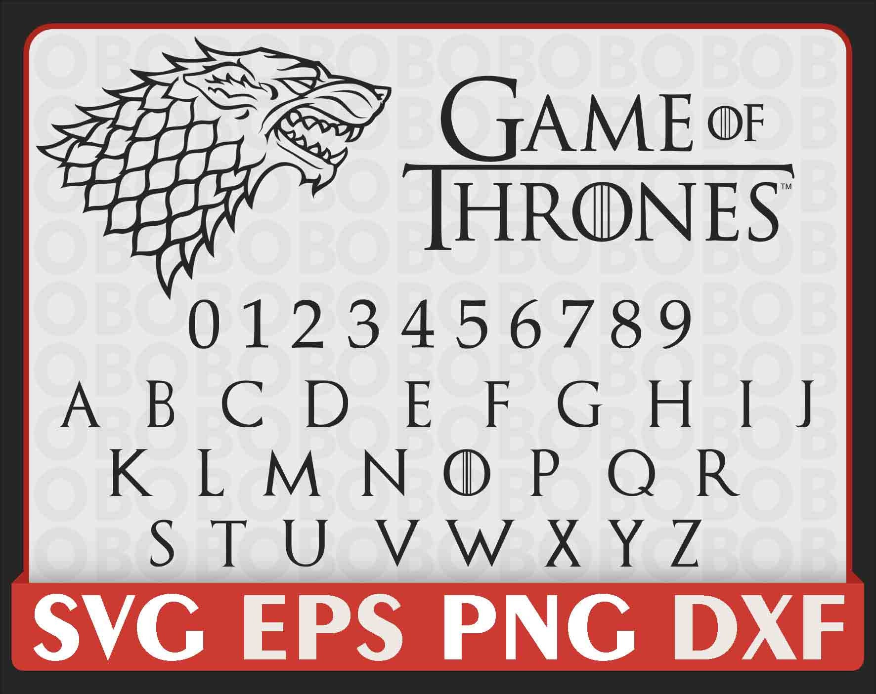 Game of thrones font name list