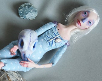 """Brunnhilde. Limited Edition. Series """"8 birds"""". Art doll. Collection doll. Hand made doll."""
