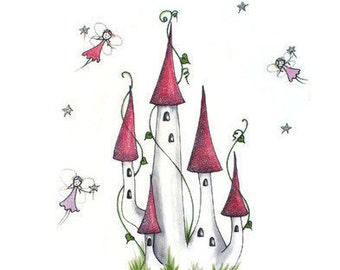Fairy Castle Wall Art Print