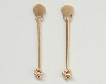 Modern  Bronze Earrings