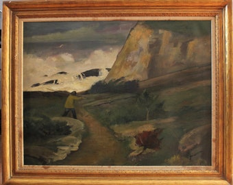 Original oil on canvas painting by  Listed Artist Edwin Booth Grossmann (1887-1957)