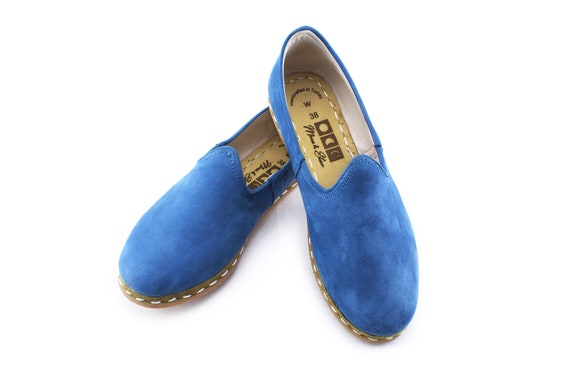 Shoes Slip shoes Presley leather Flats Women Elvis Ons Handmade Flat Leather SFw8xXqUtq