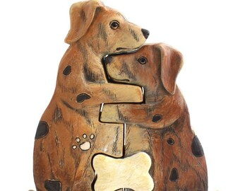 Hugging Dogs, part of our Animal Family Collection