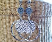 Earrings silver hoop earrings, Creoles twisted rings Deco ethnic rhodium-plated by Fecreations.
