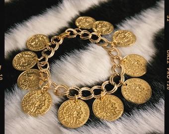 Coin Charm Bracelet - Souvenir Collection