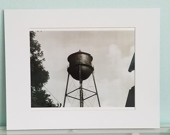 Empty Tower 8x10 vintage black and white film photograph in white 11 x 16 matte with backing board