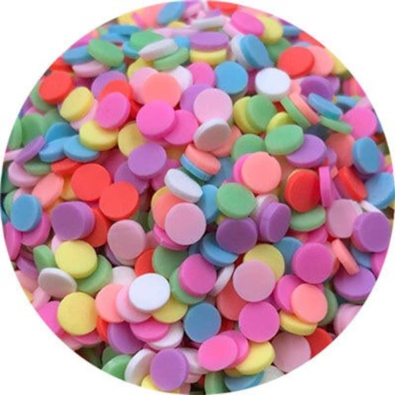 Confetti Sprinkles-Slime Sprinkles-Polymer Sprinkles-Fake Food-Fake  Sprinkles-Fake Candy-Polymer Clay-Dessert Toppings-Faux Food-Slime