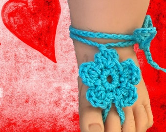 Beflowered Barefoot Baby Sandals - Crochet Pattern - Instant Download - PDF