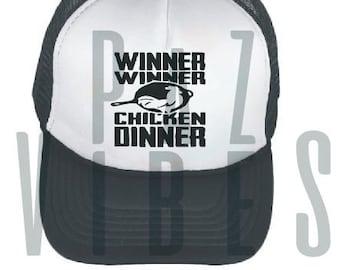1692c05ad60 Winner Winner Chicken Dinner Gamer Adult Trucker Teen Youth Drop Off Back  to School Gamer Kid Boy Girl Unisex Hat