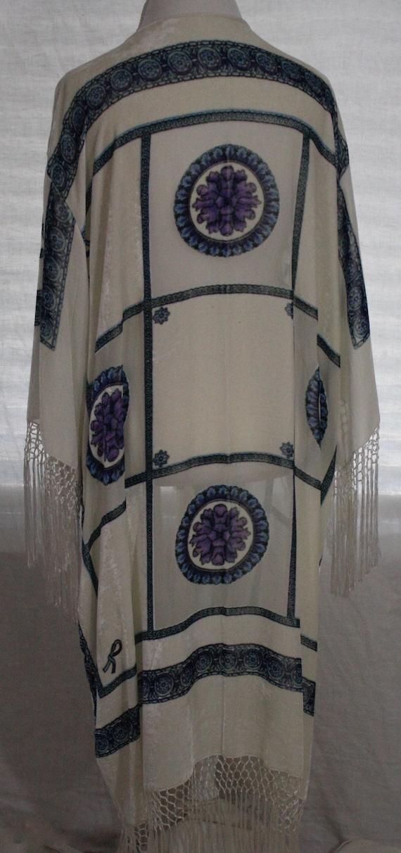 White Kimono with Geometric Print #16