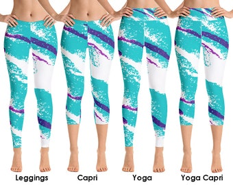517e6d04d8607c Jazz Solo Paper Cup Retro 80s 90s Rave Dixie Cup Leggings - Yoga & Capri.  Allow 2 weeks to receive (See Size Chart - last image)