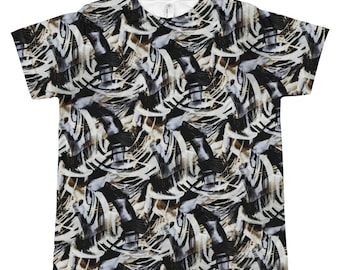 f9be3268 Kids & Teens TShirt (Unisex) - ABSTRACT 1 Rock Star Black Tan Smoky Gray  Swirls. Allow 2 weeks to receive (See Size Chart last image)