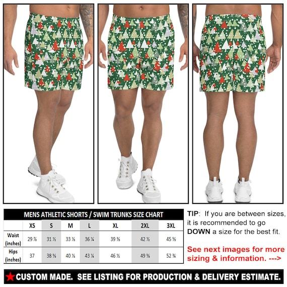 CHRISTMAS 5a - See Estimated Delivery Holiday Festive gift party Mens Athletic Shorts Santa HO HO Ho