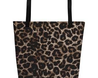Beach Bag - Leopard Print, fun, playful - Allow 3 wks for delivery