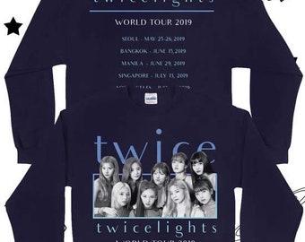 TWICE 2019 World Tour Sweater TWICE Concert Sweatshirt TWICE | Etsy