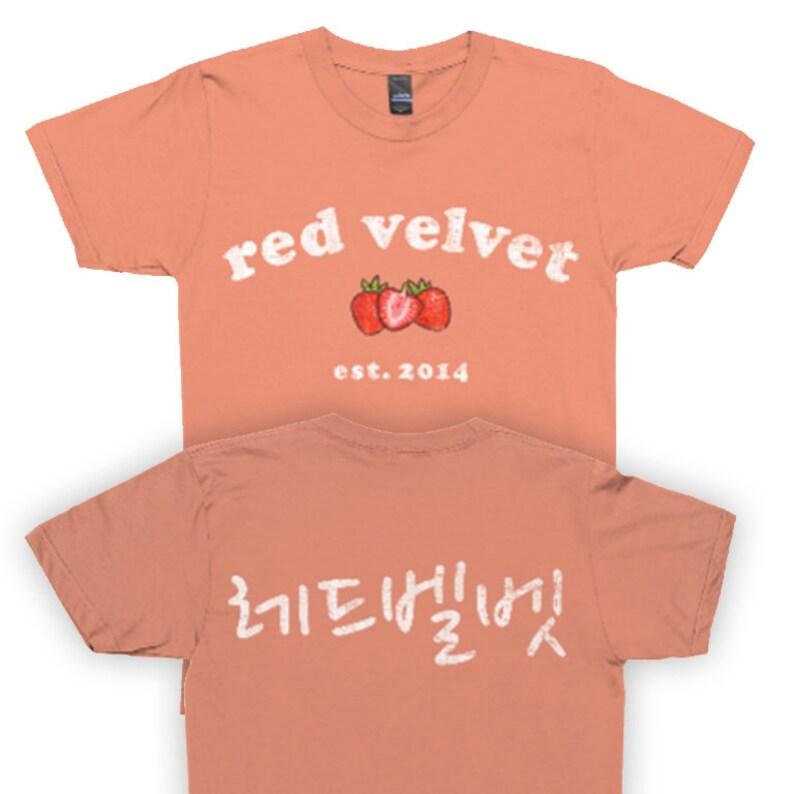 3e32d9e6dfa89d Red Velvet Kpop Red Velvet Shirt Kpop Shirt K-Pop Shirt K