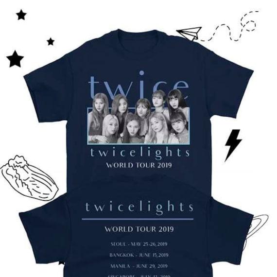 TWICE Kpop World Tour Shirt, TWICE 2019 World Tour, TWICE Twicelights  Concert Shirt, Twice Concert Shirt, Twice Kpop Concert