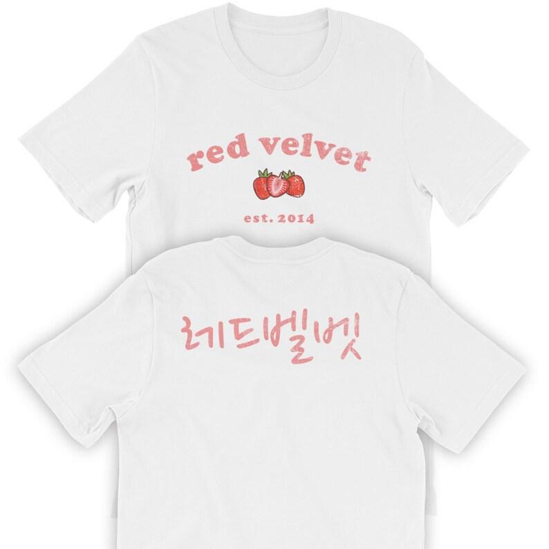 0a0e3fcf3aee46 Kpop Goods Red Velvet Kpop Red Velvet Shirt Kpop Shirt