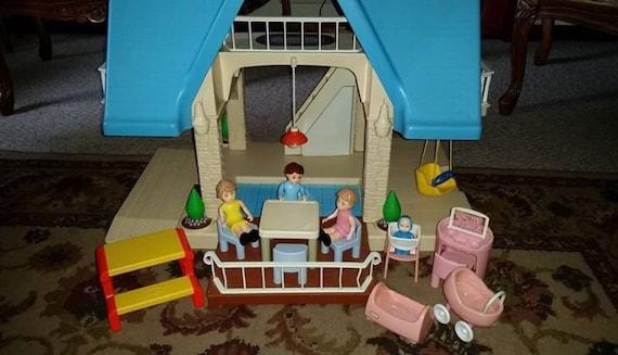 Vintage Little Tikes Dollhouse Furniture People Vanity Table Etsy