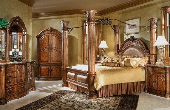Aico By Michael Amini Monte Carlo 5pc King Size Bedroom Set Etsy