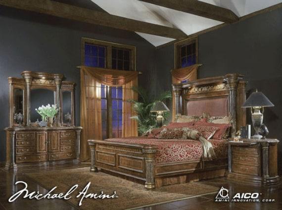 Aico By Michael Amini Torino King Size Bedroom Set Etsy