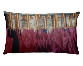 Umbrellas Rectangular Pillow