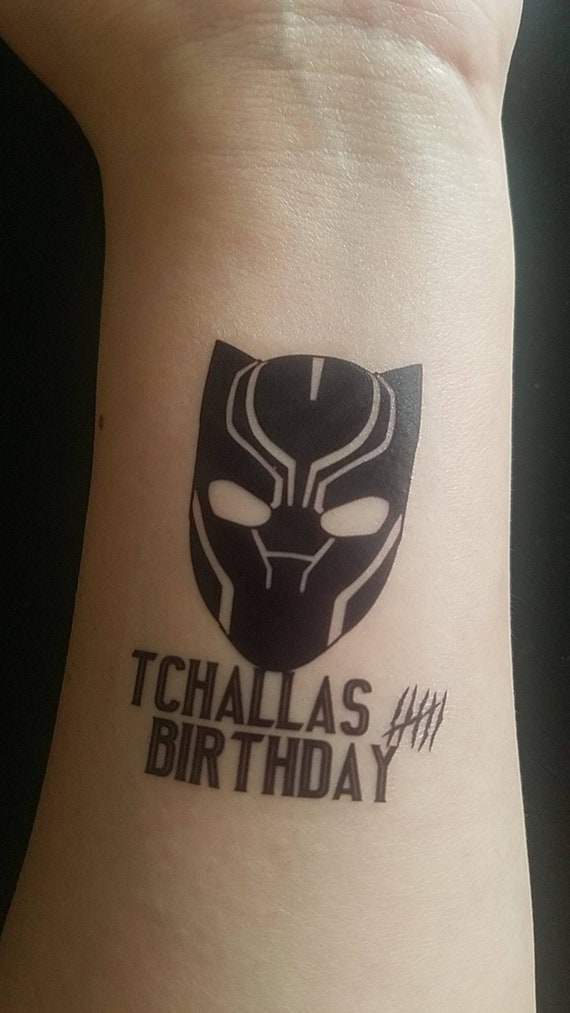 d51dc0ce4 24 black panther birthday party tattoos | Etsy