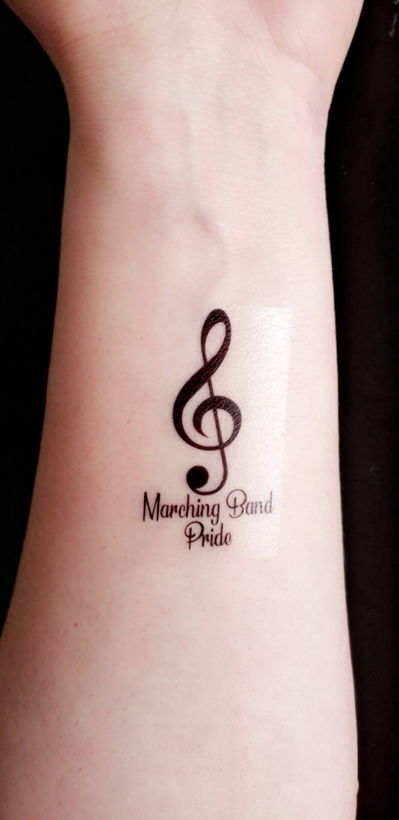 a7b213d8b 24ct customized marching band music note temporary tattoo | Etsy