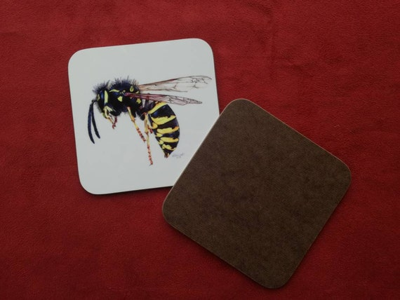 Wasp Wasp Coaster Insect Coaster Insect gifts Wasp Gifts  6714037ce9f8