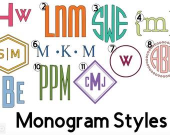 Custom Monogram Vinyl Decal