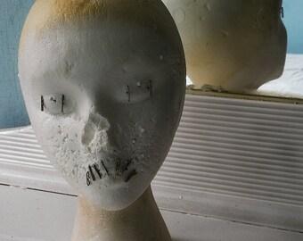 Creepy Mannequin Head Still Life - Vintage Abandoned Photography Urbex Urban Exploration - Fine Art Print Wall Art Gift 10.5x8