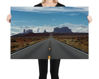 Monument Valley Printed on Stretched Canvas or Poster Print, Wall Art Home Decor