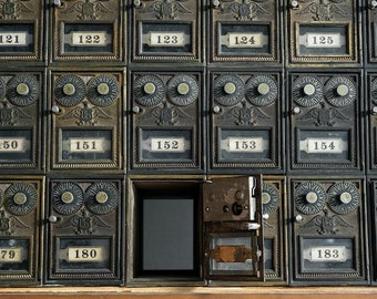 Old Mailboxes Found in an Abandoned Hospital Still Life - Digital Photography Fine Art Print - Urbex Urban Exploration - Wall Art - 8x12