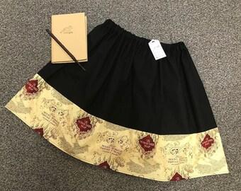 0661c3c541fcf Harry Potter Marauders Map patterened Ladies Skirt