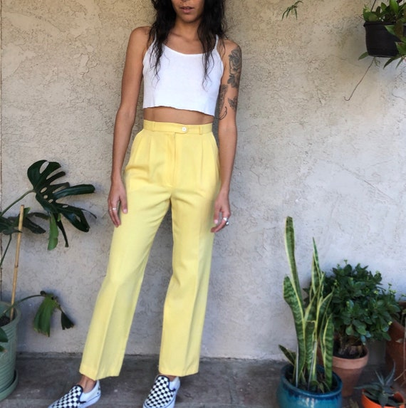 Pastel Yellow Trousers