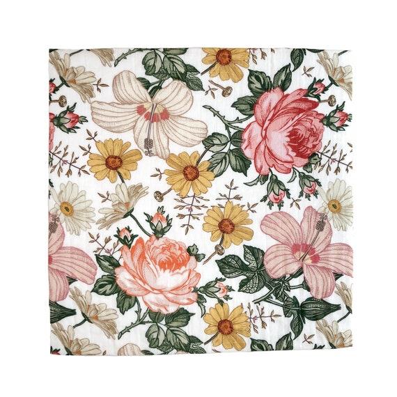 Garden Floral Swaddle Mini Scout Soft Muslin Nursery Newborn Etsy