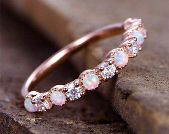 Charlotte Rose gold opal ring, opal ring, October's birthstone, gifts for her