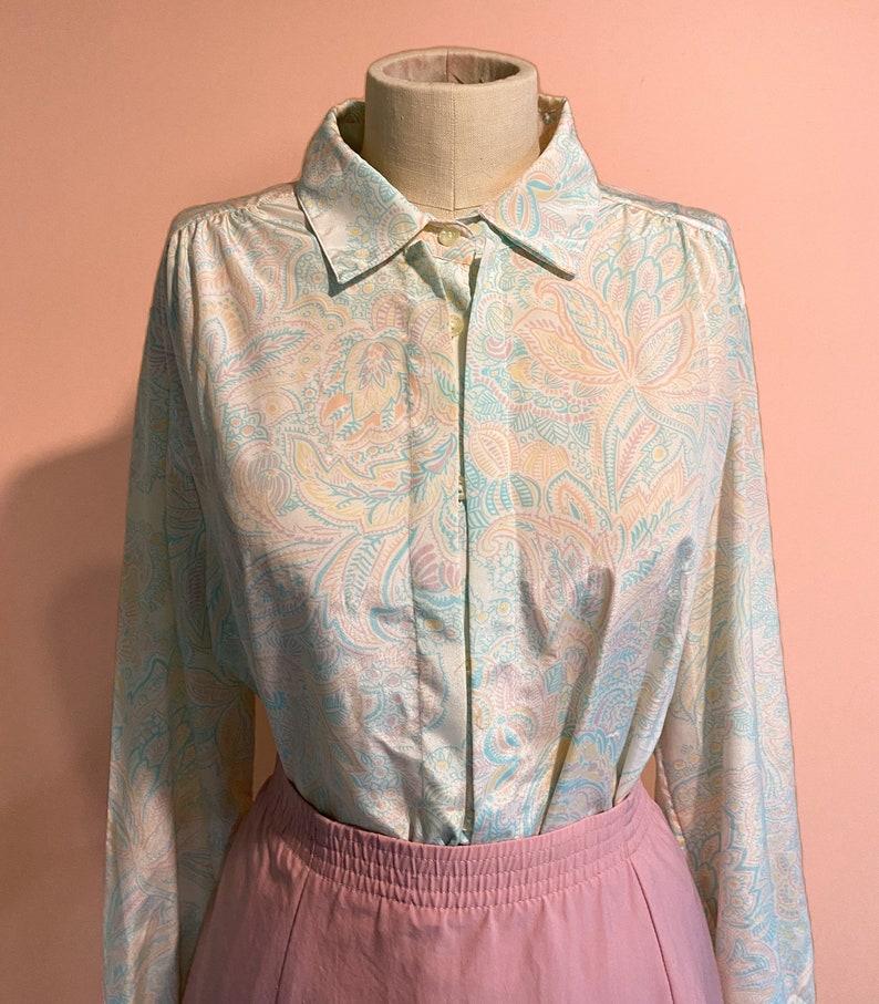 Pastel paisley blouse