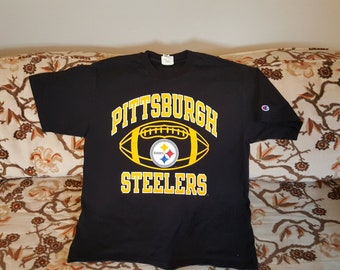 90 s Champion Pittsburgh Steelers NFL t shirt vintage - Large 121142c1f