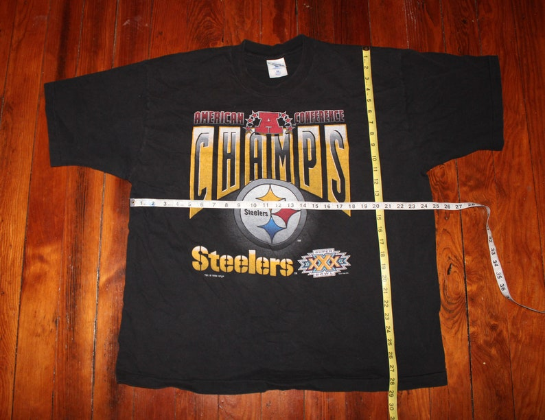 Size 2XL XXL Vintage 1996 Pittsburgh Steelers Pro Player t shirt Superbowl 30 American Conference Champs Boxy oversized 90/'s 90s
