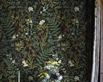 Fern Botanicals Self Adhesive Wallpaper, Leaves Print, Removable Wallpaper, Peel & Stick wallpaper, Renter Friendly, Kitchen Wallpaper