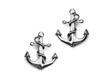 Earrings Large Brass Anchor
