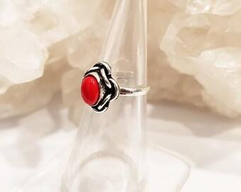 Gemstone Ring Adjustable Brass