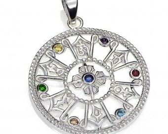 925 sterling Silver Chakra Pendant