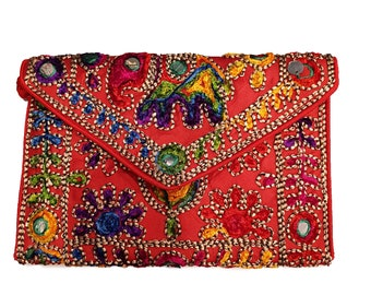 Red Small ethnic Bag