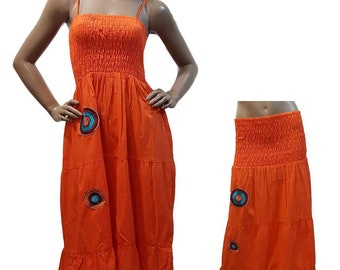 Dress 2 in 1 orange