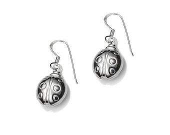 Earrings Ladybug Sterling Silver 925