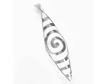 925 Sterling silver Spiral Pendant