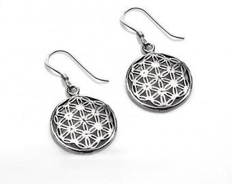 Flower Earrings Sterling Silver 925