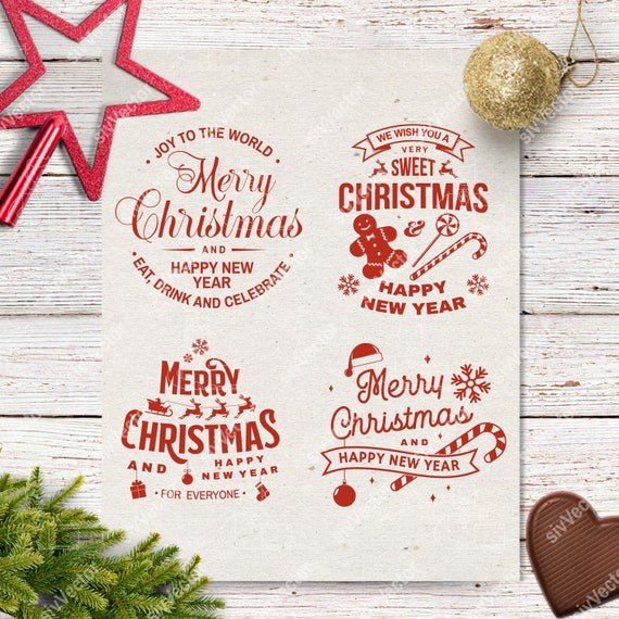 Christmas Svg File Merry Christmas Svg Christmas Clipart Etsy